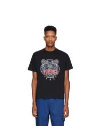 T-shirt à col rond imprimé noir Kenzo