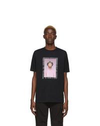 T-shirt à col rond imprimé noir Marcelo Burlon County of Milan