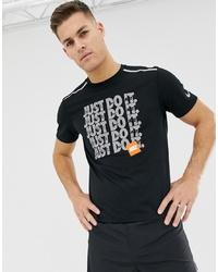T-shirt à col rond imprimé noir Nike Running