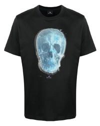 T-shirt à col rond imprimé noir Paul Smith