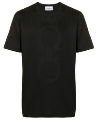 T-shirt à col rond imprimé noir Salvatore Ferragamo