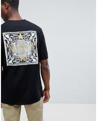 T-shirt à col rond imprimé noir Systvm