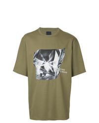 T-shirt à col rond imprimé olive