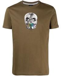 T-shirt à col rond imprimé olive Paul Smith