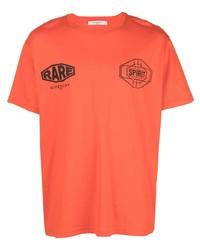 T-shirt à col rond imprimé orange Givenchy