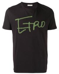 T-shirt à col rond imprimé pourpre foncé Etro