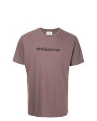 T-shirt à col rond imprimé pourpre