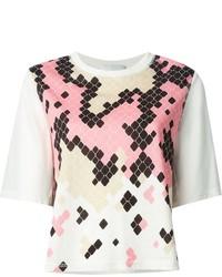 T-shirt à col rond imprimé rose 3.1 Phillip Lim