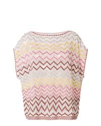 T-shirt à col rond imprimé rose M Missoni