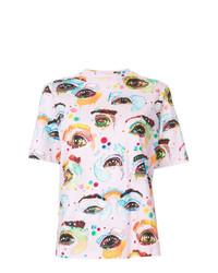 T-shirt à col rond imprimé rose Romance Was Born