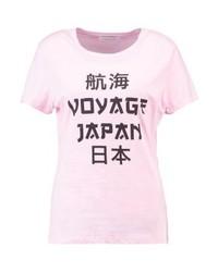 T-shirt à col rond imprimé rose Samsøe & Samsøe