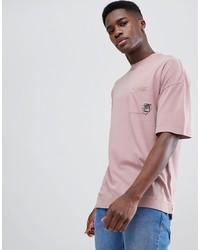 T-shirt à col rond imprimé rose Tom Tailor