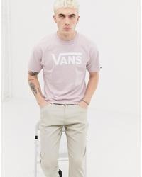 T-shirt à col rond imprimé rose Vans