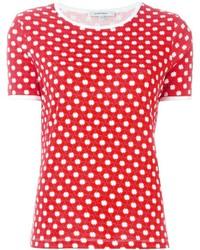 T-shirt à col rond imprimé rouge Carven