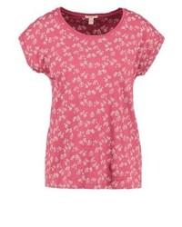 T-shirt à col rond imprimé rouge Esprit