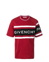 T-shirt à col rond imprimé rouge Givenchy
