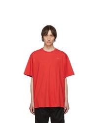 T-shirt à col rond imprimé rouge Off-White