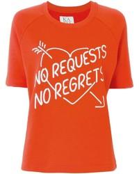 T-shirt à col rond imprimé rouge Zoe Karssen
