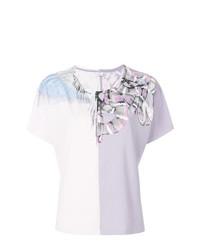 T-shirt à col rond imprimé serpent rose Marcelo Burlon County of Milan