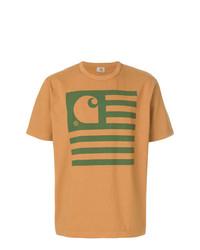 T-shirt à col rond imprimé tabac Junya Watanabe MAN