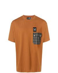 T-shirt à col rond imprimé tabac Raf Simons X Fred Perry