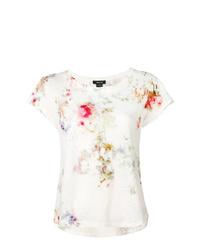 T-shirt à col rond imprimé tie-dye blanc Avant Toi
