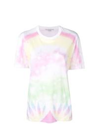 T-shirt à col rond imprimé tie-dye blanc Stella McCartney
