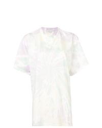 T-shirt à col rond imprimé tie-dye jaune Stella McCartney