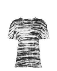 T-shirt à col rond imprimé tie-dye multicolore Proenza Schouler