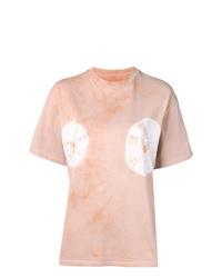 T-shirt à col rond imprimé tie-dye rose ARIES