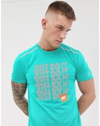 T-shirt à col rond imprimé turquoise Nike Running