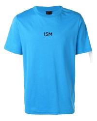 T-shirt à col rond imprimé turquoise Omc