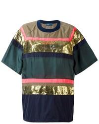 T-shirt à col rond imprimé vert foncé Kolor