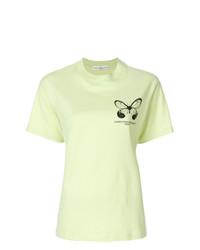 T-shirt à col rond imprimé vert menthe Golden Goose Deluxe Brand