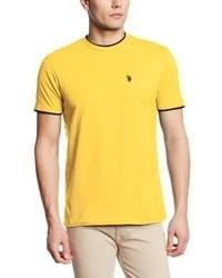 T-shirt à col rond jaune