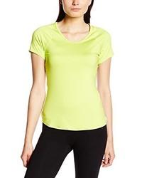 T-shirt à col rond jaune Nike