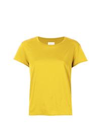 T-shirt à col rond jaune Simon Miller