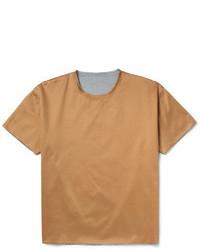 T-shirt à col rond marron clair