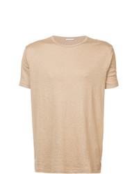 T-shirt à col rond marron clair Homecore
