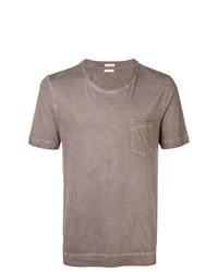T-shirt à col rond marron clair Massimo Alba
