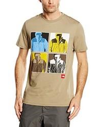 T-shirt à col rond marron clair The North Face