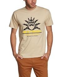 T-shirt à col rond marron clair Touchlines