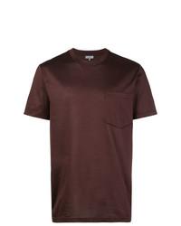 T-shirt à col rond marron foncé Lanvin