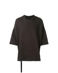 T-shirt à col rond marron foncé Unravel Project