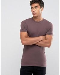 T-shirt à col rond marron Asos