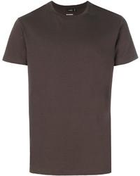 T-shirt à col rond marron Jil Sander