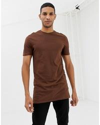 T-shirt à col rond marron New Look
