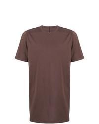 T-shirt à col rond marron Rick Owens