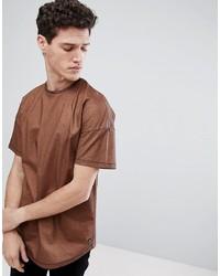 T-shirt à col rond marron Tom Tailor