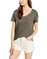 T-shirt à col rond marron Vero Moda